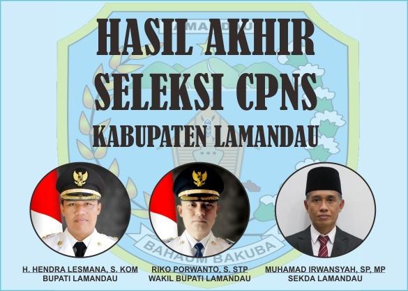 Hasil Akhir Seleksi CPNS Kabupaten Lamandau