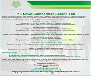 Lowongan Kerja PT. SSMS