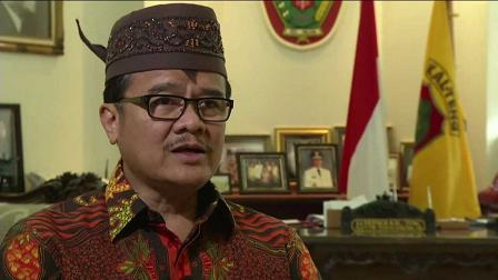 Agustin Teras Narang, anggota DPD terpilih asal Kalteng yang juga mantan Gubernur Kalteng.