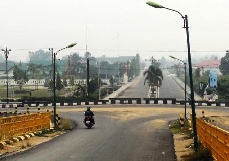 Kondisi kota Pulang Pisau terlihat bersih.