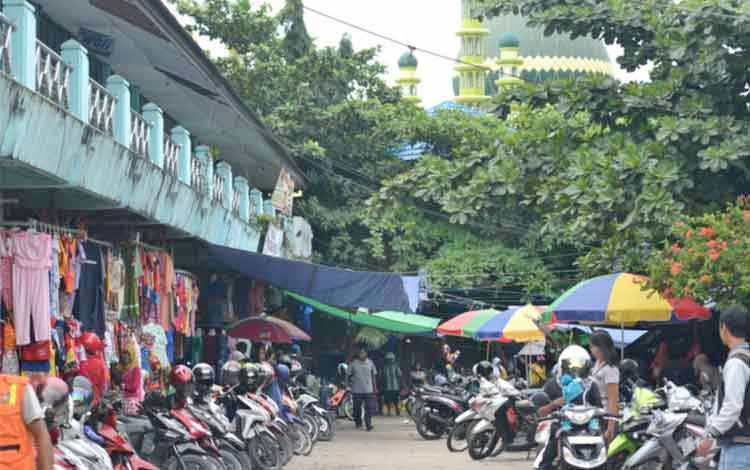 Pasar Indrasari Pangkalan Bun, Kotawaringin Barat, Kalimantan Tengah. Askomnas minta pembangunan pasar semimodern itu dilaksanakan secara proporsional dan profesional. BORNEO/KOKO SULISTYO.