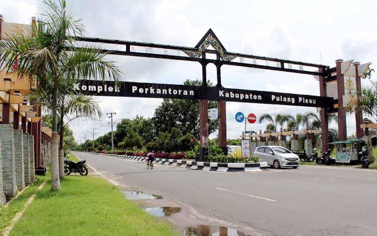 Salah satu kawasan kota Pulang Pisau, Kalimantan Tengah. Anggota DPRD Pulang Pisau H Ahmad Rifai, belum lama ini, meminta semua pihak menjaga taman kota dari kegiatan negatif. BORNEONEWS/JAMES DONNY