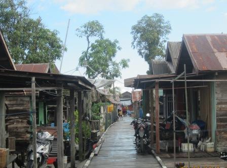 Suasana Desa Tanjung Putri  (BORNEO/YOHANES WIDADA)