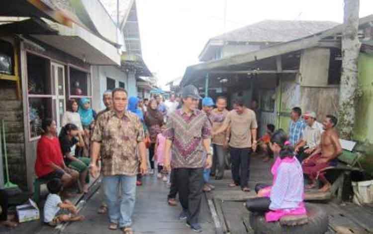 Suasana Desa Tanjung Putri. (BORNEO/YOHANES WIDADA)