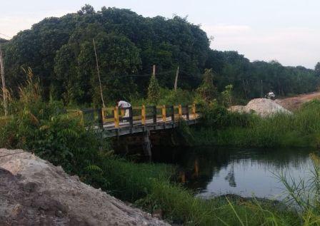Jembatan Sei Nyirih. (BORNEO/CECEP)