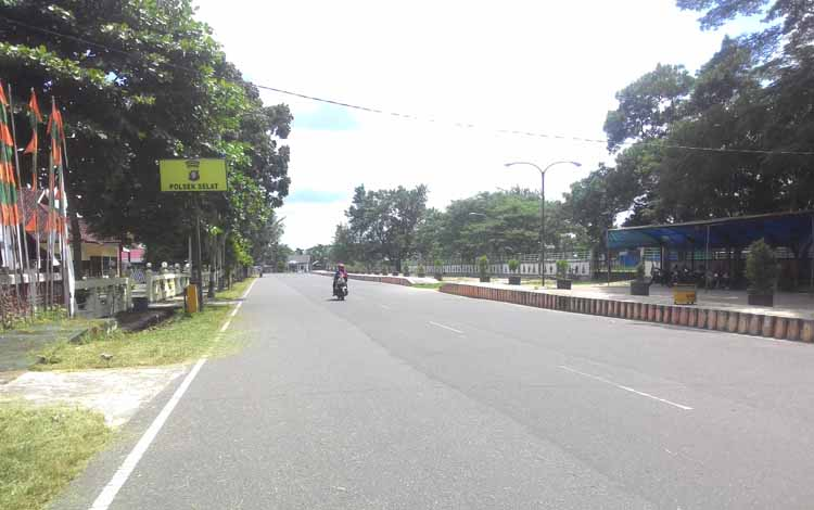 Jalan Maluku akan di jadikan pasar ramadhan sekitar stadion lapangan bola Panunjung Tarung Kuala Kapuas. BORNEONEWS/Napoleon Hrurlean