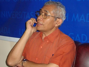 Ketua Tim Ahli Pusat Studi Pancasila Universitas Gadjah Mada (PSP-UGM) Sutaryo. (BORNEO/DOK)