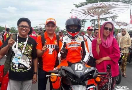 Tim balap motor Kalteng diPON XIX Bandung. BORNEONEWS/ROKIM