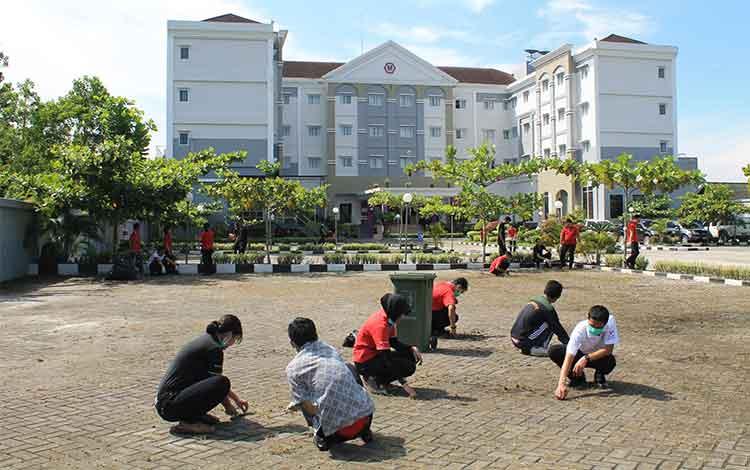 BERBENAH - Hotel Swiss-Belinn Pangkalan Bun berbenah untuk menyambut kedatangan para raja dan sultan yang ikut serta dalam acara Festival Keraton Nusantara (FKN) X 2016. DOK SWISS-BELINN