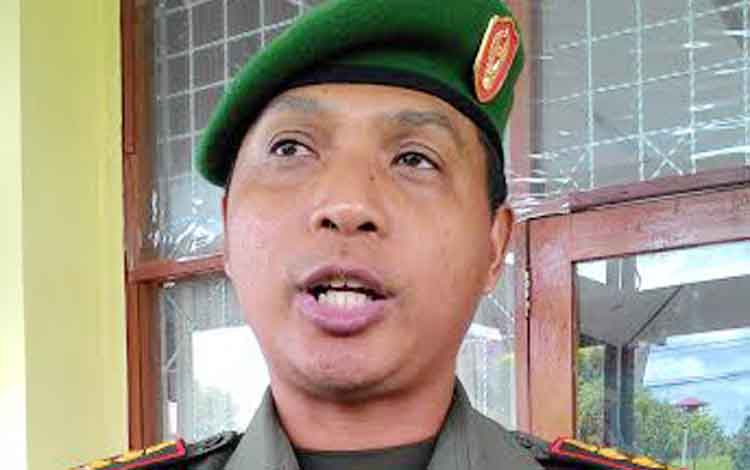 Komandan Distrik Militer (Dandim) 1016/Plk, Letkol Inf Alfius  BORNEONEWS/TESTI