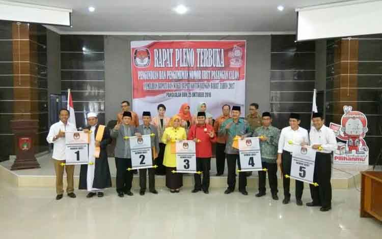 Calon Bupati dan Wakil Bupati Kabupaten Kotawaringin Barat Periode 2017-2022
