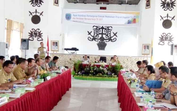 Suasana rapat Rakorbang Pemkab Lamandau, Selasa (10/1/2017).