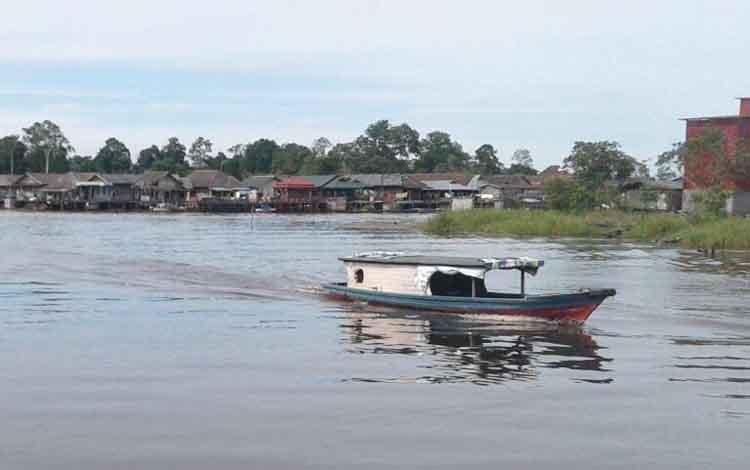 Ilustrasi kapal nelayan.