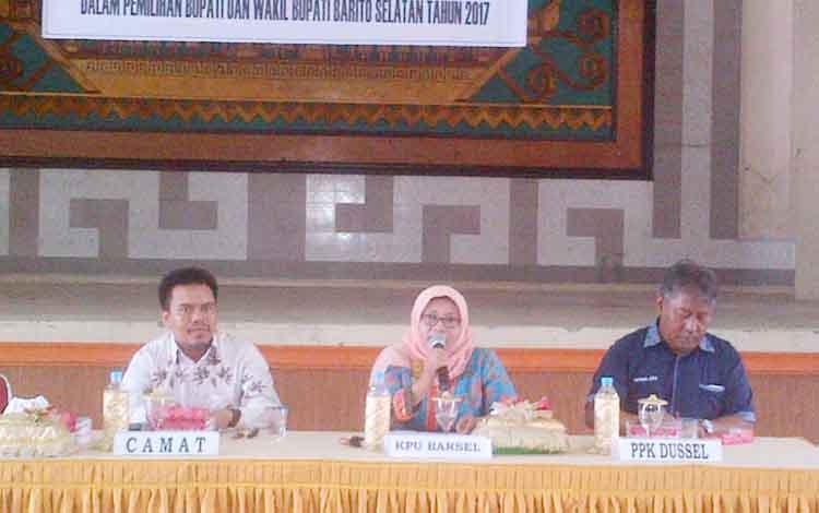 KPU Barito Selatan Gelar Bimtek Pemungutan Dan