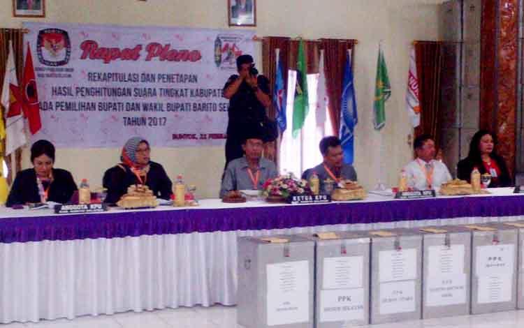 KPU Tetapkan Pasangan Eddy-Atyani Pemenang Pilkada Barito