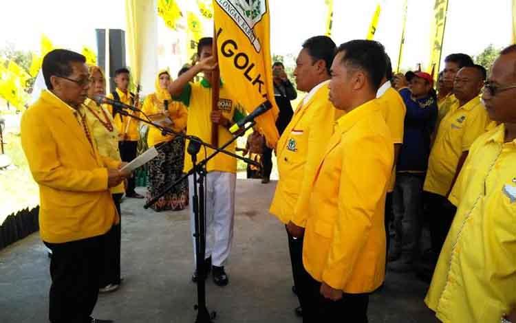 Suasana acara pelantikan DPD Partai Golkar Kabupaten Pulang Pisau.