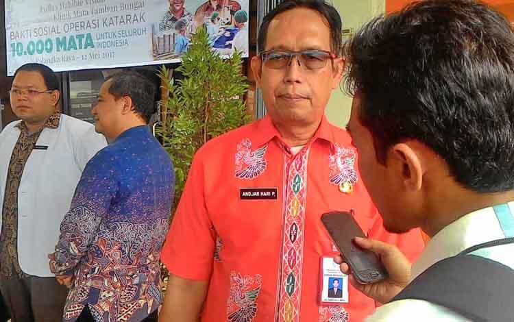 Pelaksana Tugas Kepala Dinas Kesehatan Kota Palangka Raya Andjar Hari P.