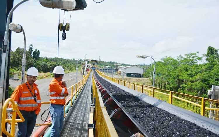 Ilustrasi aktivitas perusahaan tambang batu bara.