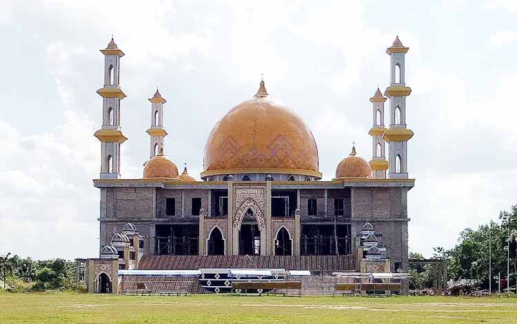 Pembangunan Masjid Agung Sukamara Habiskan Dana Rp50 Miliar
