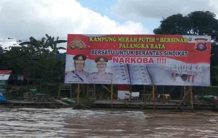 Kampung Merah Putih di Pahandut Seberang Dinilai Polda Kalteng