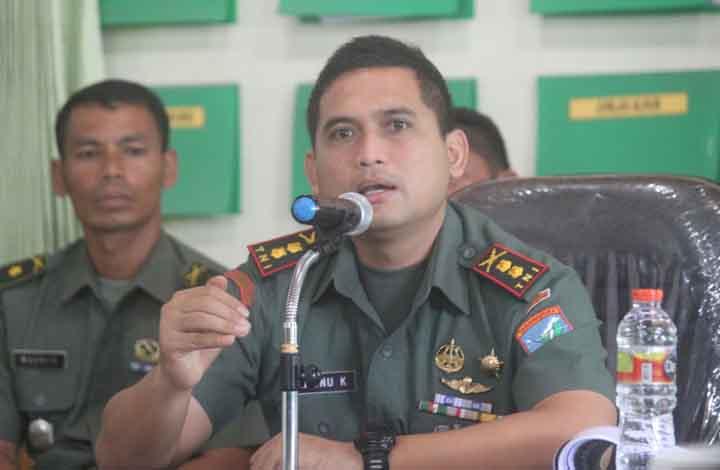 Komandan Kodim 1014/PBN Letkon Inf Wisnu Kurniawan.