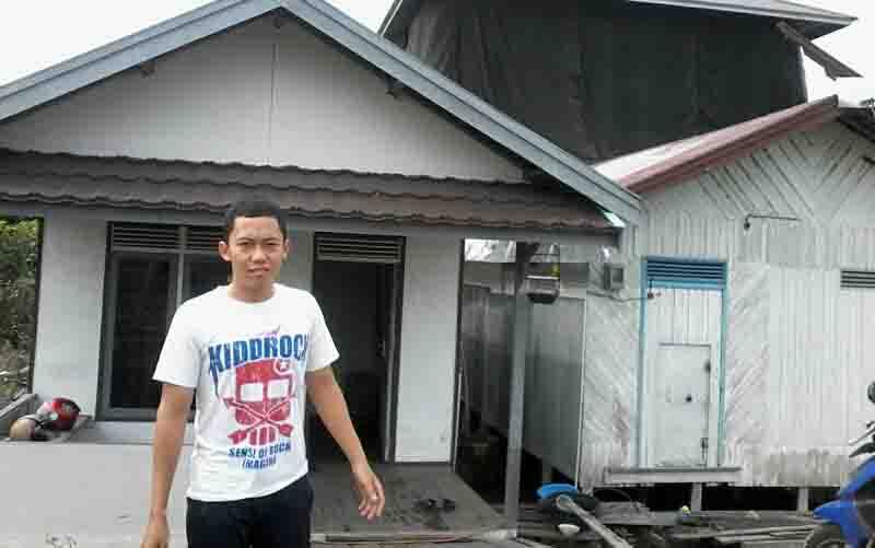 Alan, mahasiswa berusia 20 tahun yang berhasil memukul mundur tiga pelaku pencurian sarang walet.