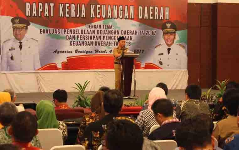 Gubernur Kalteng, Sugianto Sabran pada Rapat Kerja Keuangan Daerah Regional II.