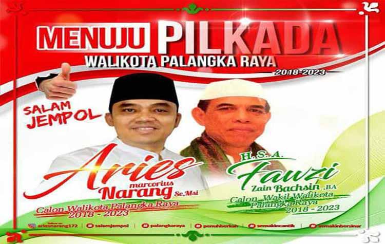 PDIP Resmi Usung Aries-Fauzi di Pilkada Palangka Raya