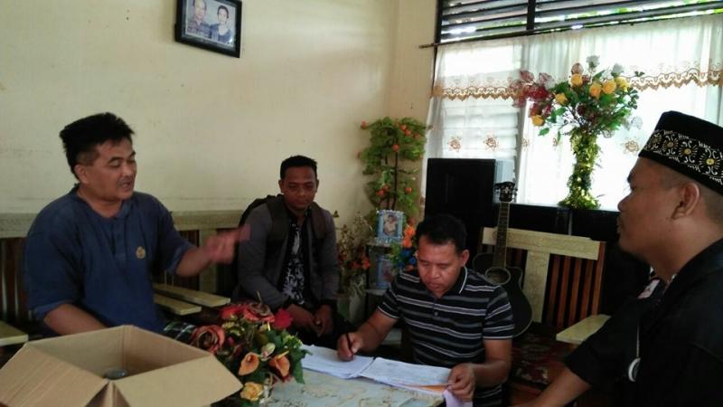 PPDP Kelurahan Palangka saat melakukan Coklit ke rumah warga
