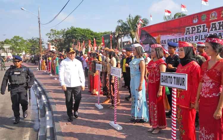 Gubernur Kalteng Pimpin Apel Akbar dan Deklarasi Pilkada Damai