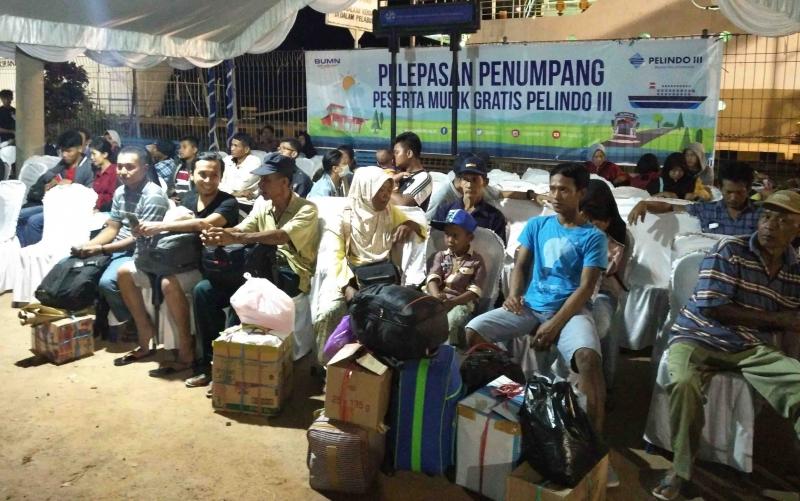 Penerima layanan mudik gratis dari PT Pelindo.