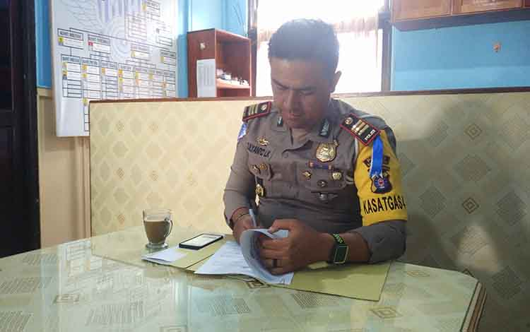 Kasat Lantas Polres Barito Utara, AKP Zulyanto Leonardi Kramajaya.