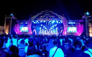 Suasana malam penutupan FSQ ke VII tingkat Kalteng di Kota Nanga Bulik, Kabupaten Lamandau, Rabu (11/7/2018).
