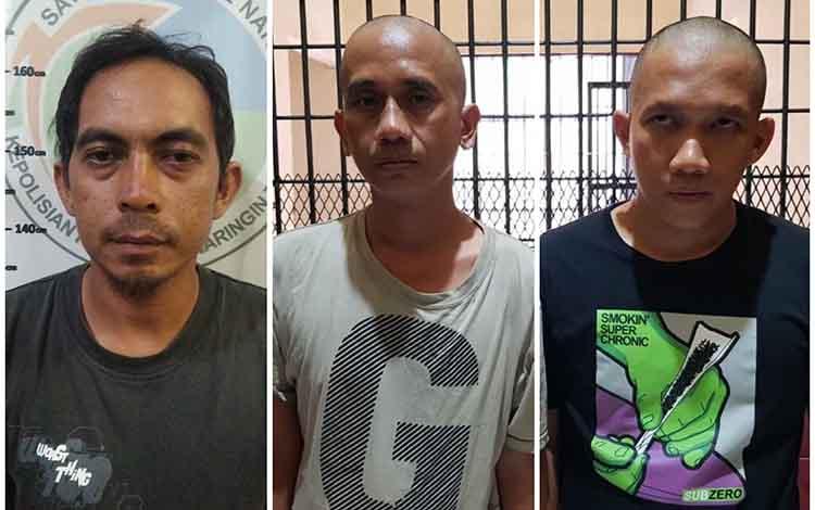 Inilah tiga pengedar sabu yang ditangkap Tim Cobra Polres Kotim