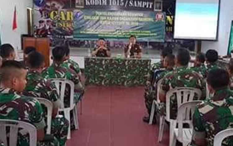 Kegiatan TNI bersama Kejari Kotim di Kodim 1015 Sampit.