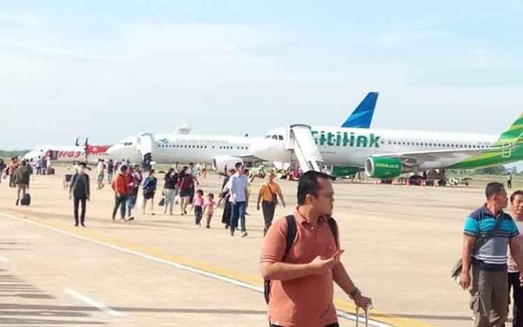 Bandara Tjilik Riwut Palangka Raya.