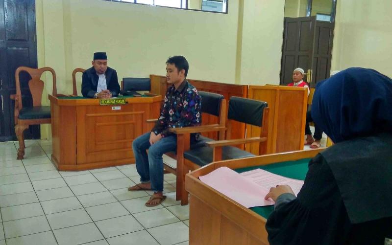 Terdakwa Yakub disidang di PN Palangka Raya.