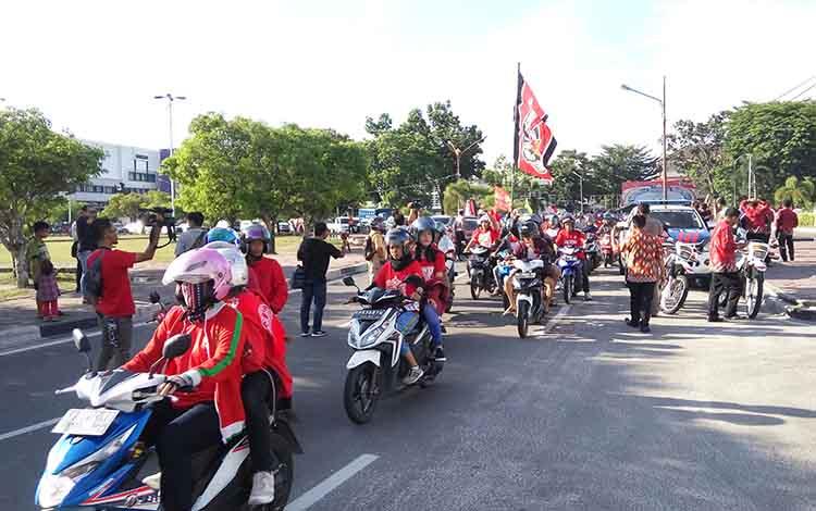 Konvoi Kalteng Putra Menyambut Liga 1 Meriah