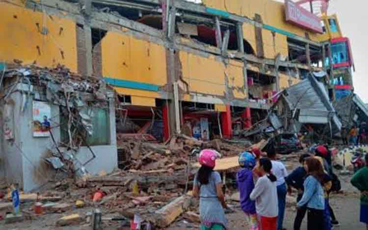 Sisa bencana di Palu Sulteng.