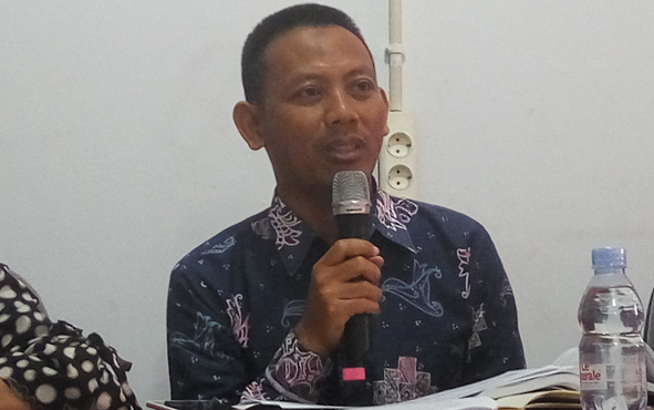 Koordinator Divisi Penindakan Pelanggaran Bawaslu Kalteng Edi Winarno.