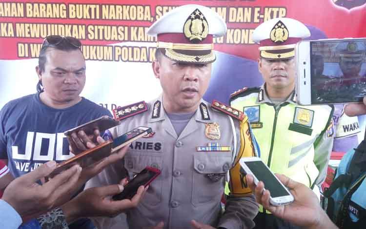 Direktur Lalu Lintas Polda Kalteng Kombes Pol Aries Syahbuddin