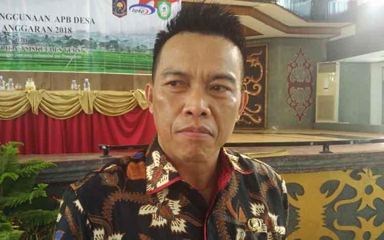 Kepala DPMDes Kotim Hawianan. Pihaknya akan segera melakukan sosialisasi Pilkades pada pekan kedua bulan Oktober 2019 mendatang.