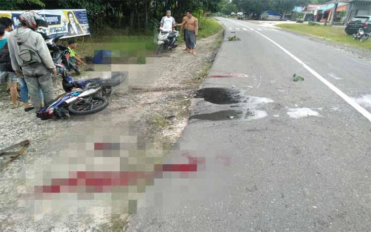 Peristiwa kecelakaan lalu lintas yang terjadi pada Jumat (29/12/2018)