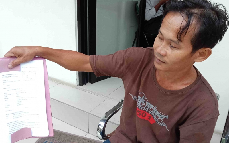 Taufik, warga yang menggugat BNI Cabang Sampit.