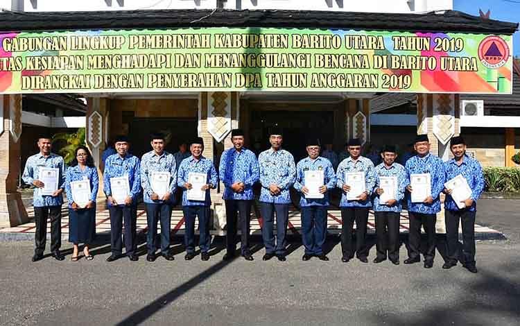 Penyerahan DPA kepada Satuan Organisasi Perangkat Daerah (SOPD) di Barito Utara.