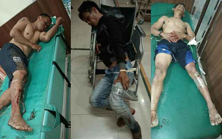 Tiga pelaku kasus curas mendapatkan perawatan medis setelah ditembak polisi.