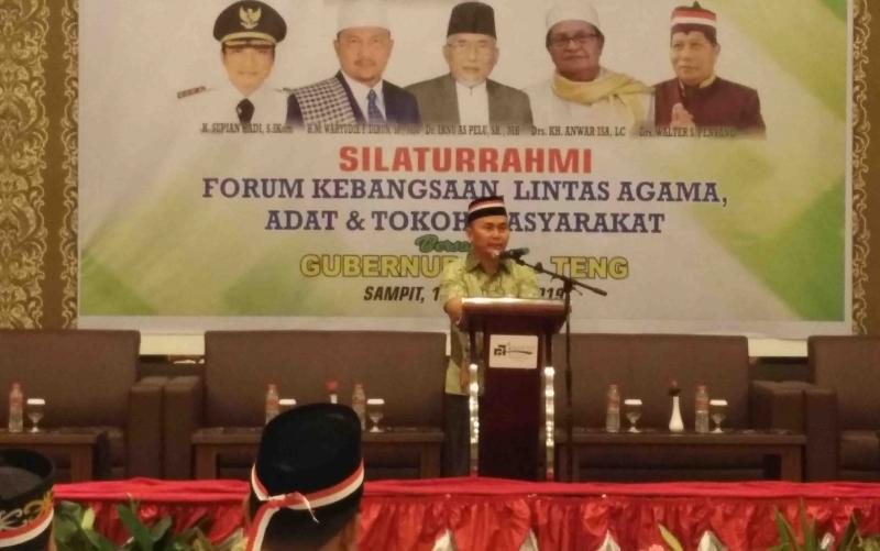 Gubernur Kalteng, Sugianto Sabran di kegiatan forum silaturahmi kebangsaan.