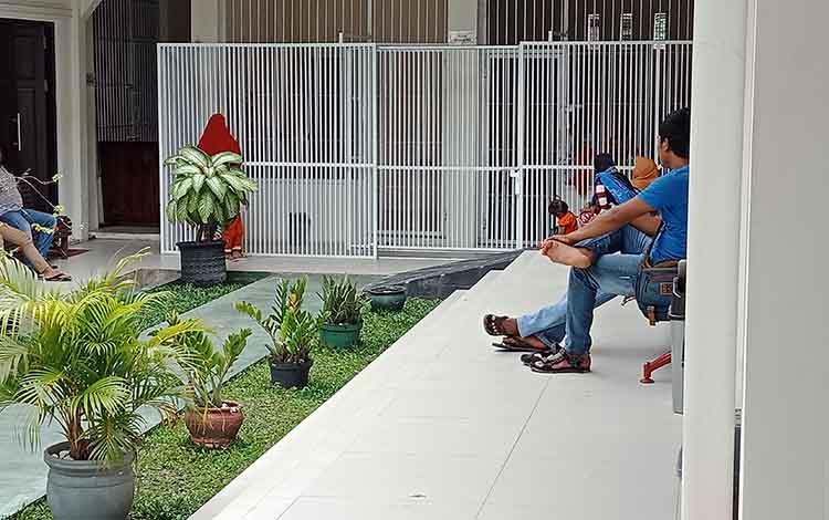 Suasana sel tahanan di Pengadilan Negeri Sampit.