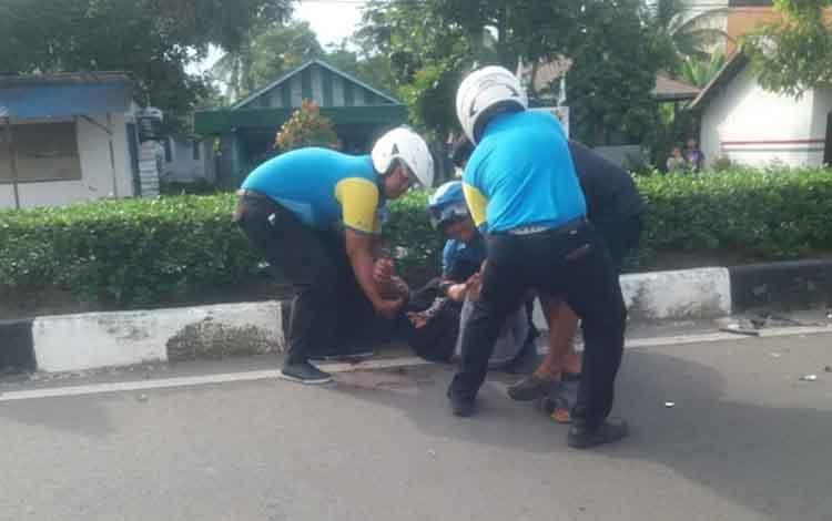 Kecelakaan di Jalan Pemuda Kapuas, Senin (28/1/2019) sore.
