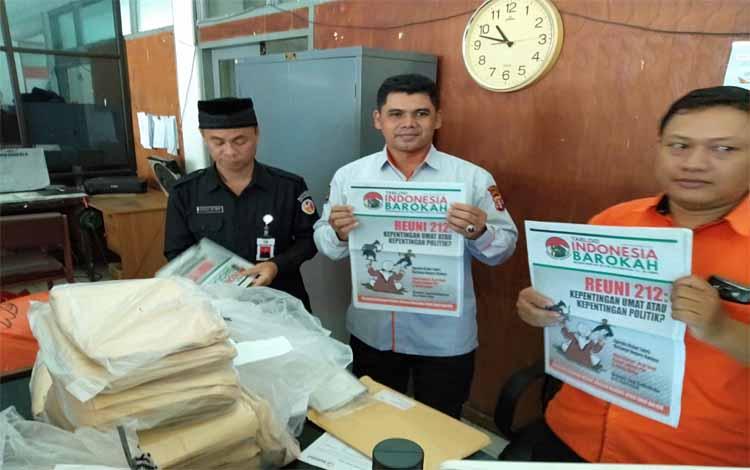 Tabloid Indonesia Barokah ditemukan di Kantor Pos Palangka Raya beberapa hari lalu